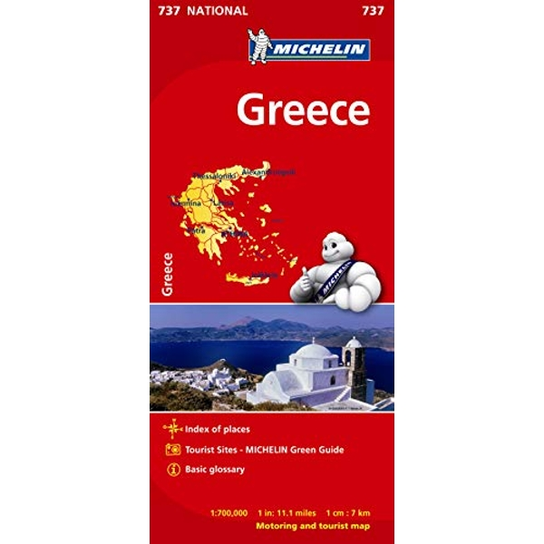 Greece - Michelin National Map 737 Map Sheet map 2012