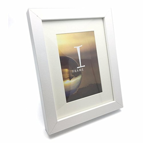 """6"""" x 8"""" - iFrame Solid White Wood Finish Frame with Mount"""