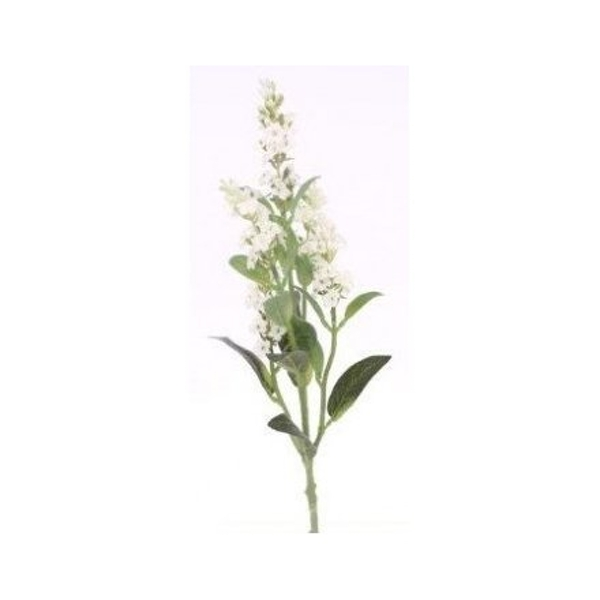 Artificial Lavender Spray - Cream
