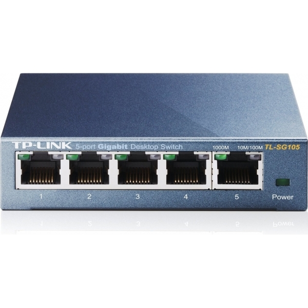TP-Link TL-SG105 5-Port Metal Gigabit Ethernet Switch UK Plug