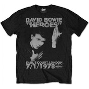 David Bowie Heroes Earls Court Men's Medium T-Shirt - Black