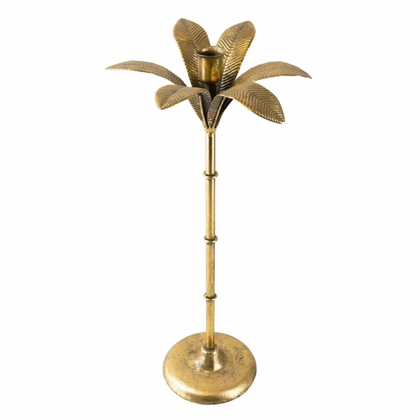 Gold Palm Tree shaped Candle Holder 41 cm