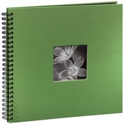 Fine Art Spiralbound Album 36x32 cm 50 black pages (Apple-green)
