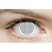 White Mesh 3 Month Halloween Coloured Contact Lenses (MesmerEyez XtremeEyez)