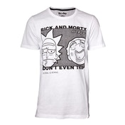 Rick And Morty - Don'T Even Trip Men's X-Large T-Shirt - White
