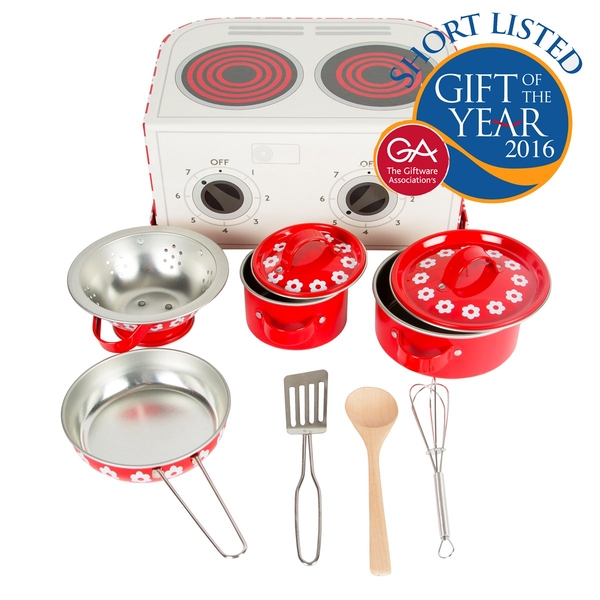 Sass & Belle Red Daisies Play Cooking Set