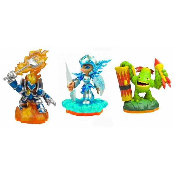 Chill, Zook, and Ignitor (Skylanders Giants) Triple Character Figure Pack B - Image 2