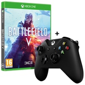 Battlefield V Xbox One Game + Official Microsoft Black Wireless Controller