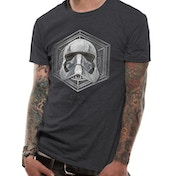 Star Wars 8 - Captain Phasma Badge Men's X-Large T-Shirt - Grey