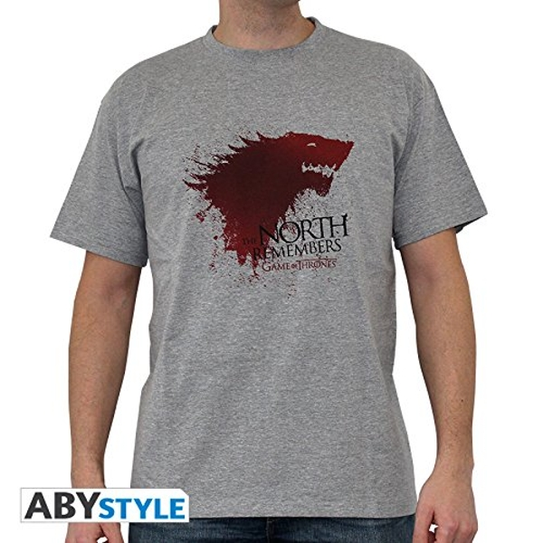 "Game Of Thrones - ""The North..."" Mens Medium T-Shirt - sport grey"