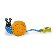 Oops Colourful and Multi-Textured Soft and Vibrating Snail Pull-Toy Accessory for Car Seats and Push