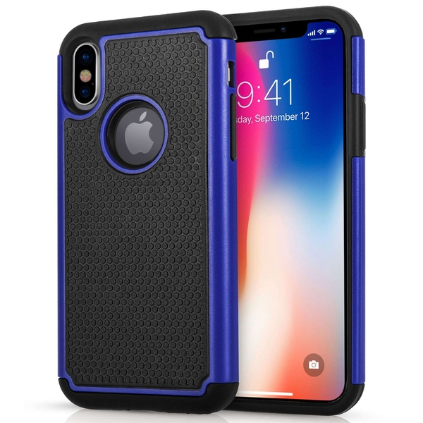 Compare prices with Phone Retailers Comaprison to buy a Apple iPhone X Mesh Combo Case - Blue