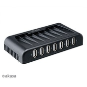 Akasa Connect 7 Plus 7 port USB 2.0 HUB w Power Adapter