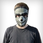Full Face Neoprene Bike/Ski/Snowboard Mask - Grey Skull