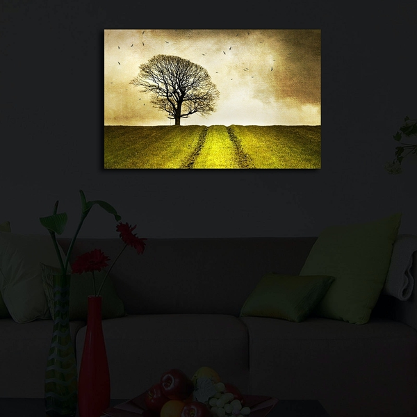 4570?ACT-48 Multicolor Decorative Led Lighted Canvas Painting