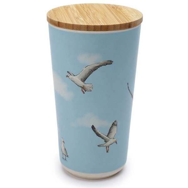Seagull Bamboo Composite Large Round Storage Jar