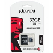 Kingston 32GB Micro SDHC Class 4 Flash Card with Adapter