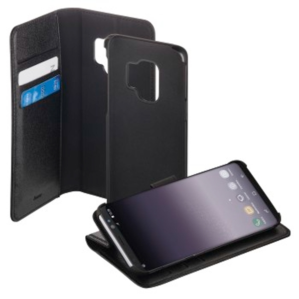 "Hama ""2in1"" Booklet for Samsung Galaxy S9, black/black"