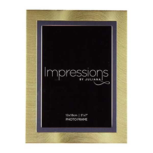 "5"" x 7"" - Impressions Gold & Silver Aluminium Photo Frame"