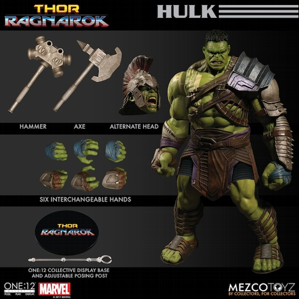 Hulk (Thor Ragnarok) Mezco One:12 Collective Action Figure - Image 1