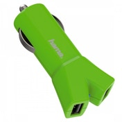 Hama Colour Line (Green) 12V Charger 2x USB 3.4 A