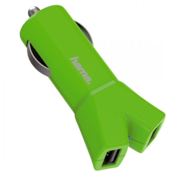 Colour Line (Green) 12V Charger 2x USB 3.4 A