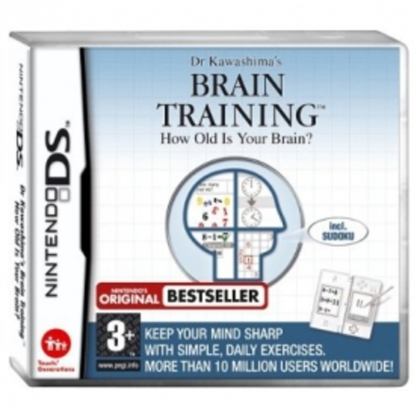 Dr Kawashima Brain Training How Old Is Your Brain Game DS