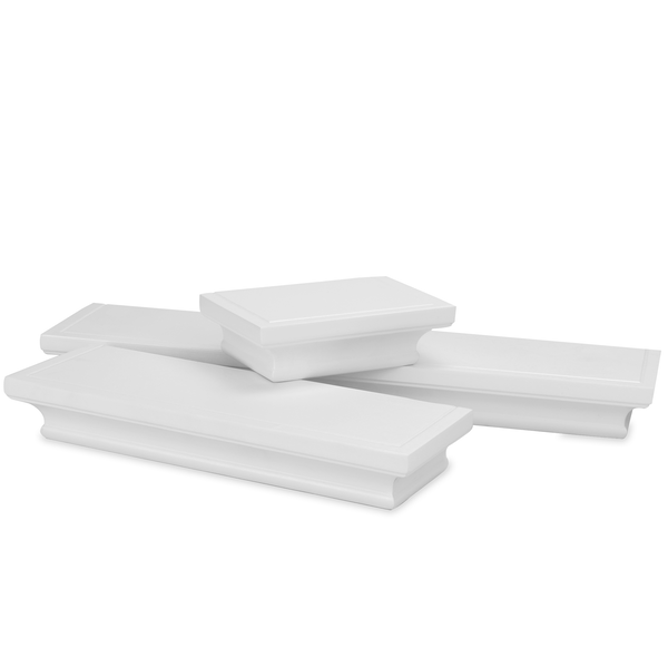 3 White Floating Shelves | M&W