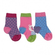 Kite Kids Baby-Girls 0-6 Months 3 Pack Socks