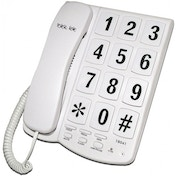 Tel UK Big Button Telephone New Yorker White