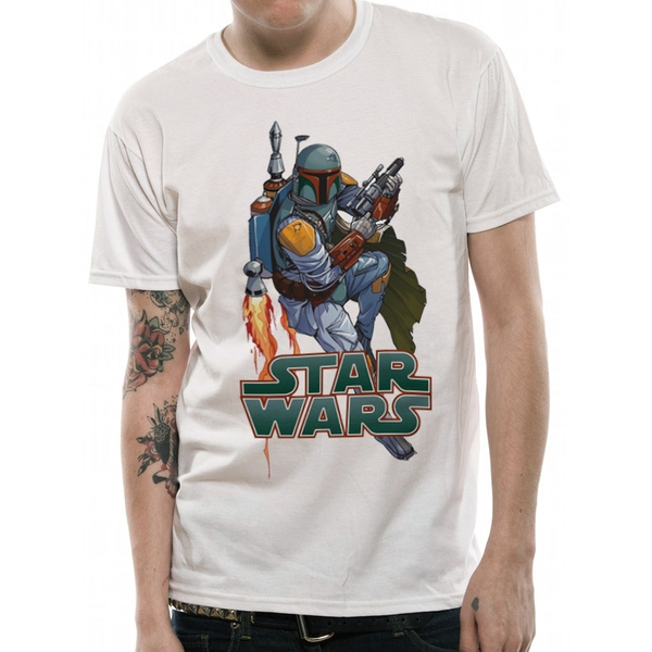 Star Wars - Boba Hyper Men's Small T-Shirt - White