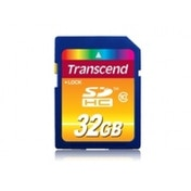 Transcend 32GB Secure Digital High-Capacity Class 10 Flash Card TS32GSDHC10