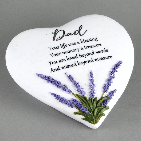 Thoughts Of You 'Dad' Memorial Heart Stone