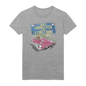 Bruce Springsteen - Pink Cadillac Men's Large T-Shirt - Heather Grey