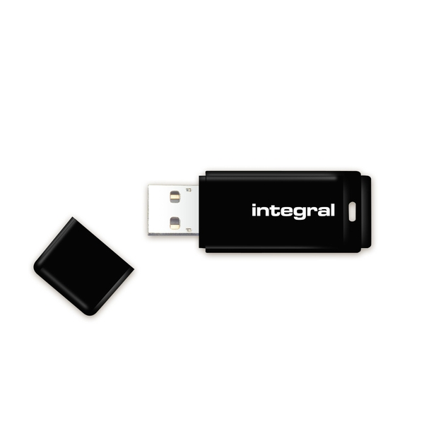 Integral 64GB USB2.0 Memory Flash Drive (Memory Stick) Black