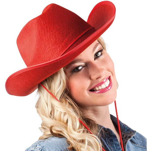 Cowboy Hat One Size (Red)