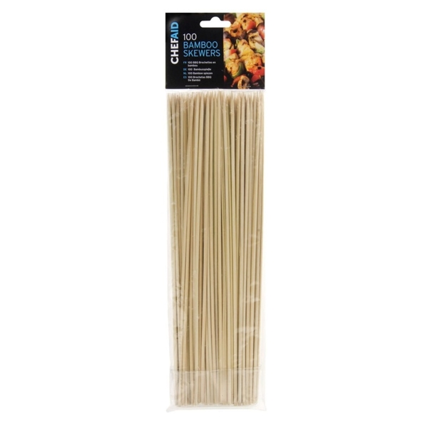 Chef Aid Bamboo Skewers (Pack of 100) 30.5cm