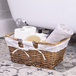 Willow Storage Basket with Cotton Lining Brown | M&W - Image 4