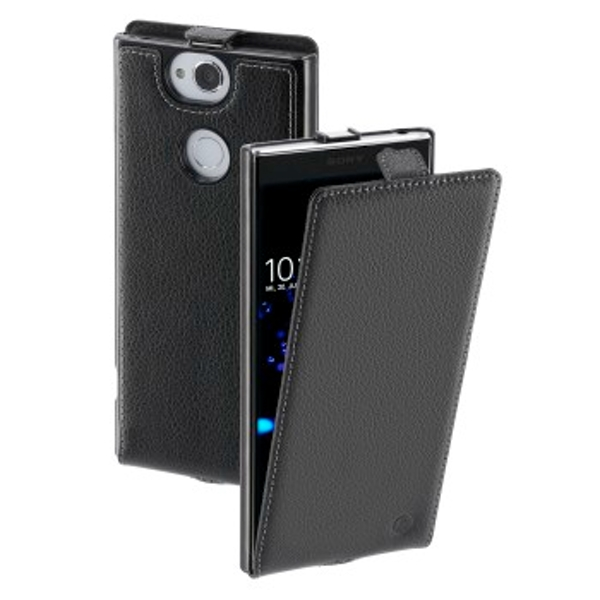 Hama - Smart Case Flap Case for Sony Xperia XA2 Plus, black - Black - Leather (Upper Material) (1 ACCESSORES)