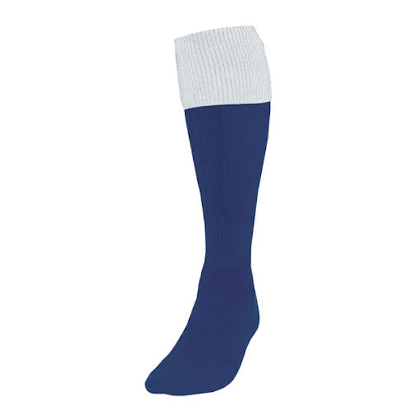 Precision Turnover Football Socks Navy/White UK Size 7-11