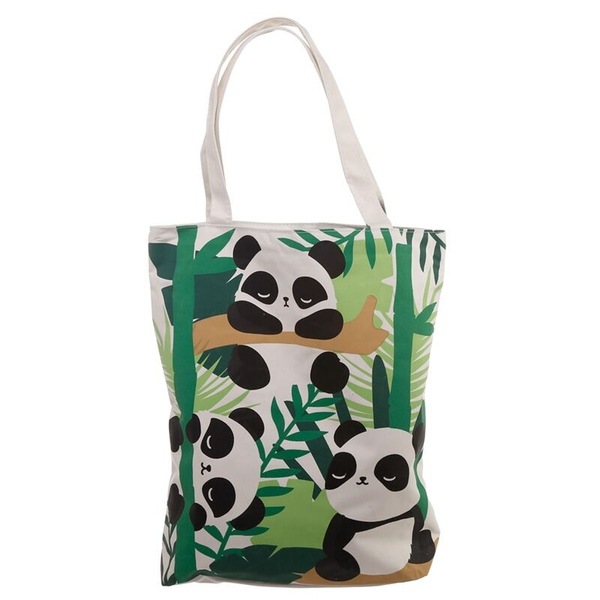Pandarama Design Handy Cotton Zip Up Shopping Bag