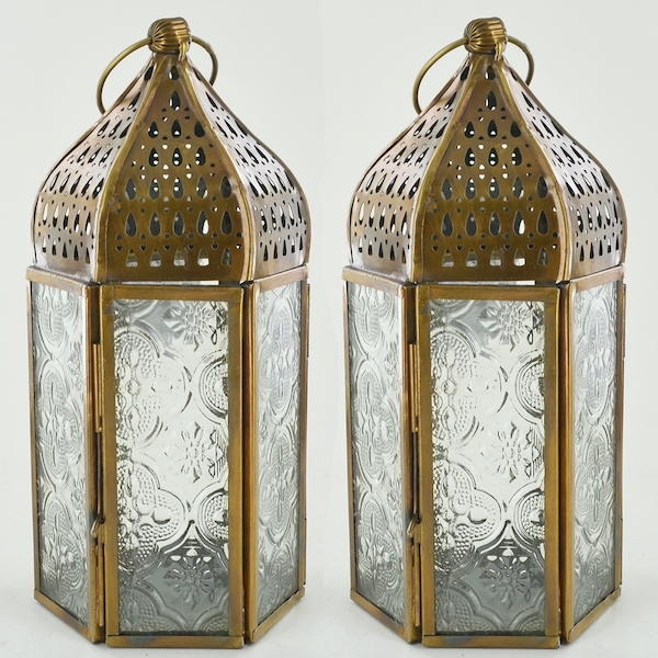 Brass Antique Lantern (Set of 2)