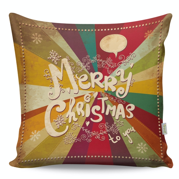A12943 Multicolor Cushion Merry Christmas To You