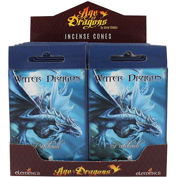 Pack of 12 Water Dragon Incense Cones by Anne Stokes
