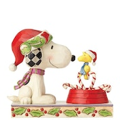 Candy Cane Christmas Snoopy and Woodstock (Peanuts) Jim Shore Figurine
