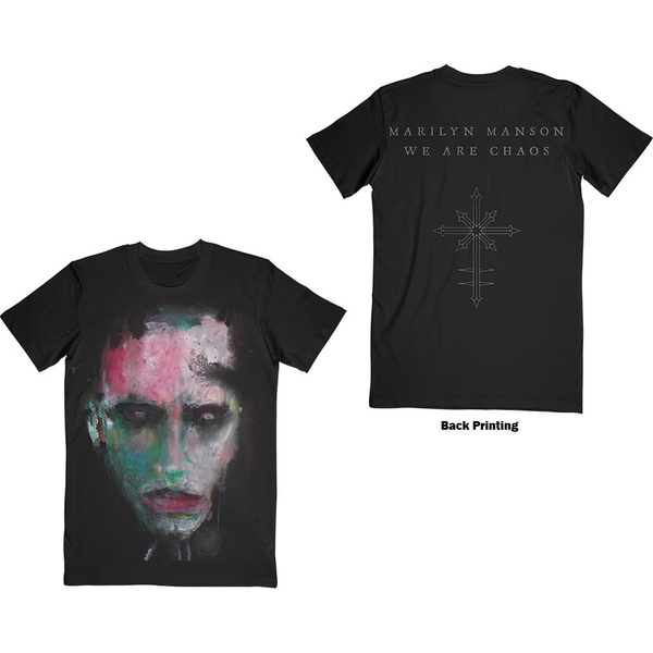 Marilyn Manson - We Are Chaos Unisex Small T-Shirt - Black