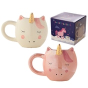 Fantasy Unicorn Shaped Ceramic Mug (1 Random Supplied)