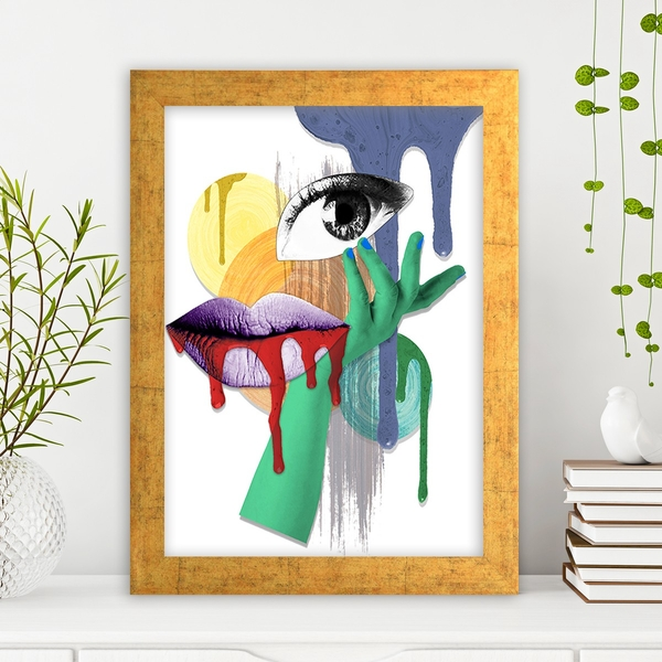 AC1087633418 Multicolor Decorative Framed MDF Painting