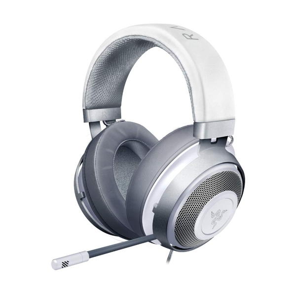 Razer Kraken Mercury, Gaming Headset with Cooling Gel Earpads for Ambitious Gamers, White