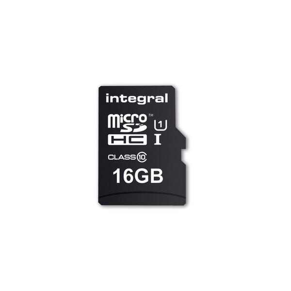 Image of Integral 16GB Micro SD Card MicroSDHC Cl10 UHS 1 90 Mb/S + Adapter Smartphone & Tablet